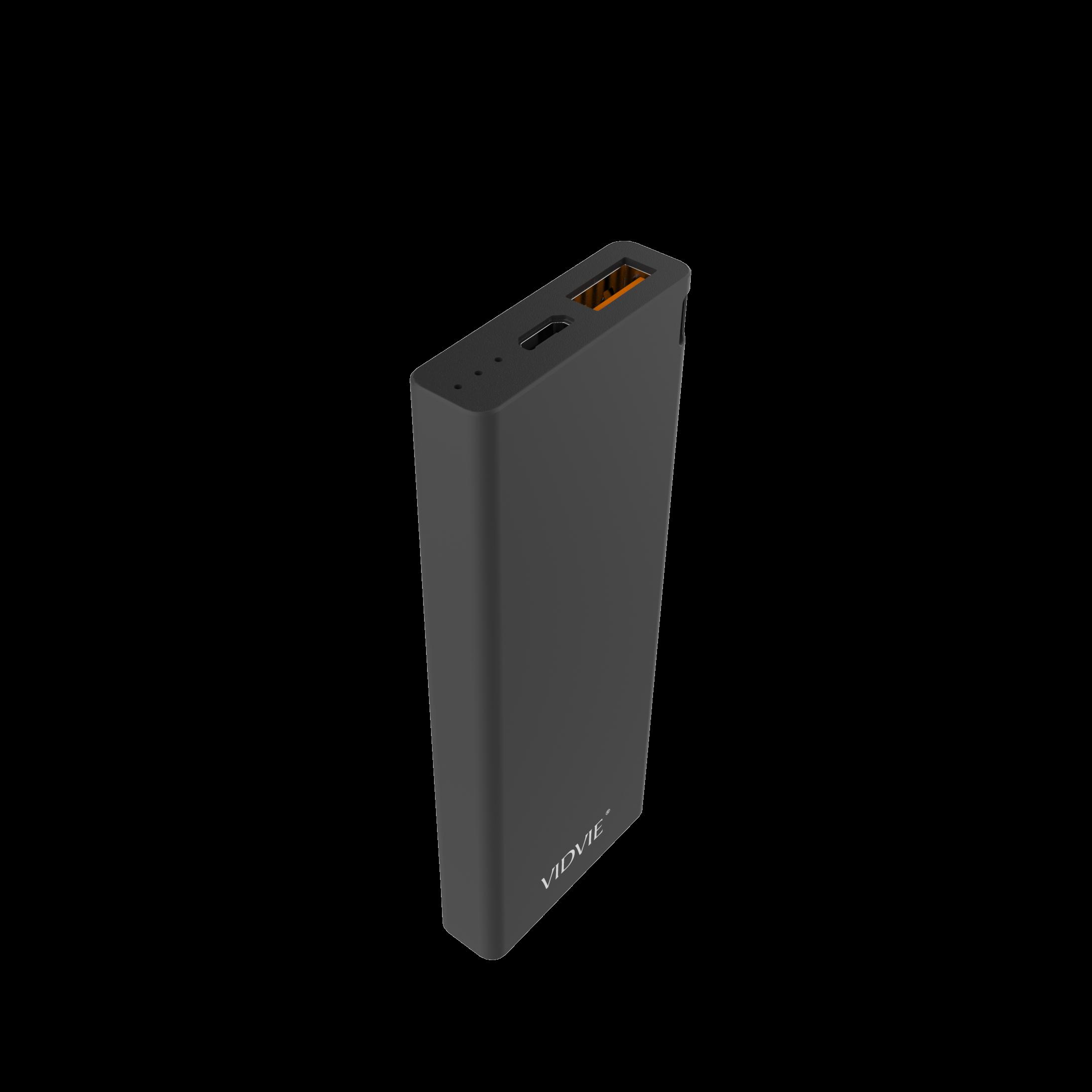 6000 mAh POWER BANK polymer core Shell VIDVIE - PB713 BLACK