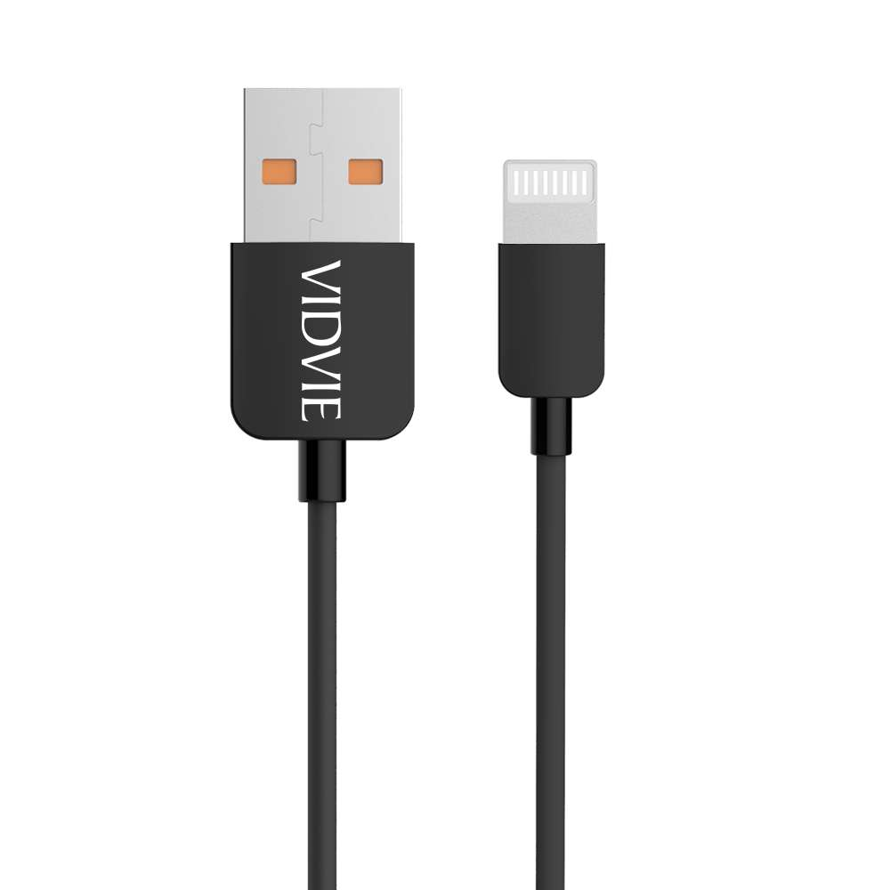 VIDVIE 2.1A Charging Cable for iPhone Length BLACK - 2 M - CB4121