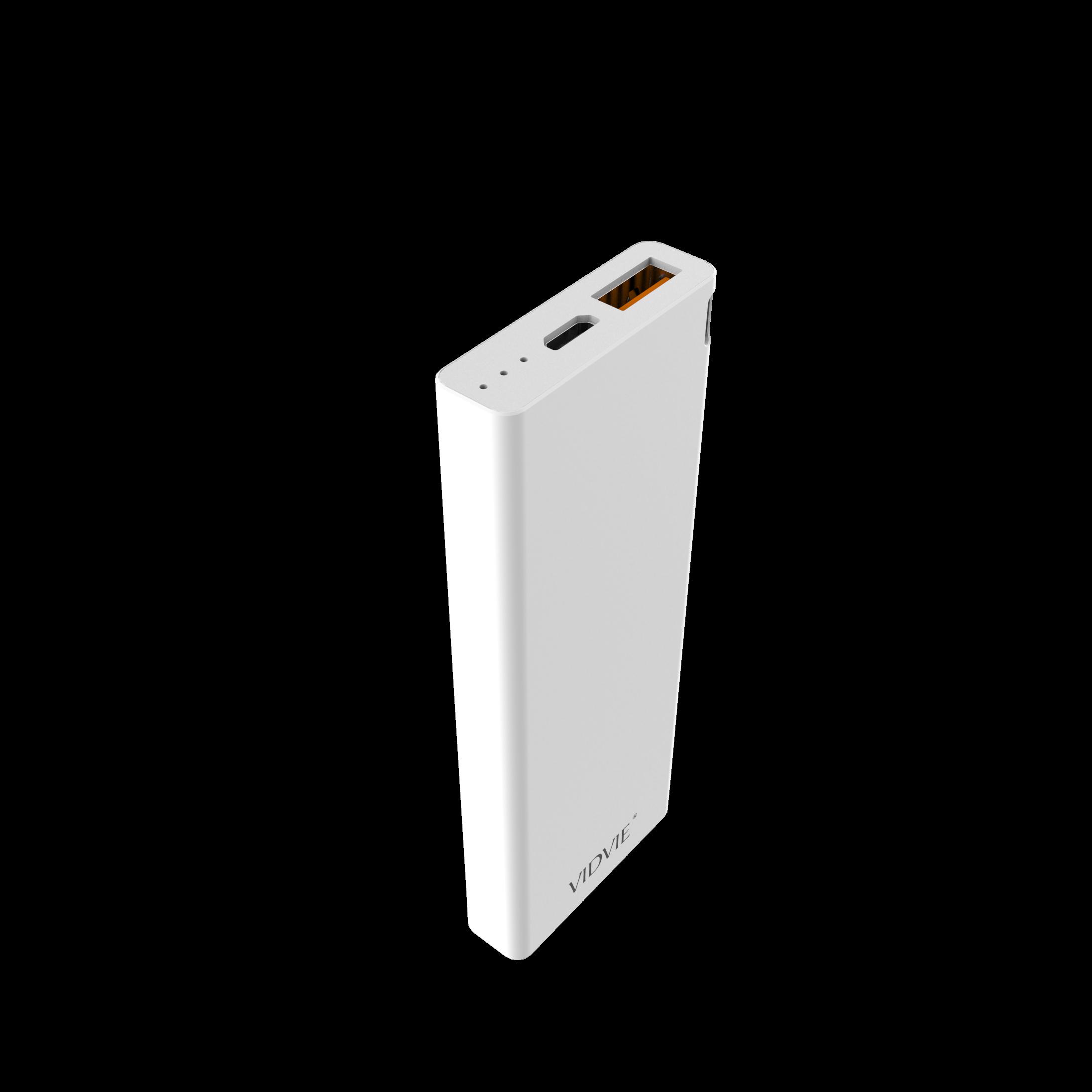 6000 mAh POWER BANK polymer core Shell VIDVIE - PB713 WHITE